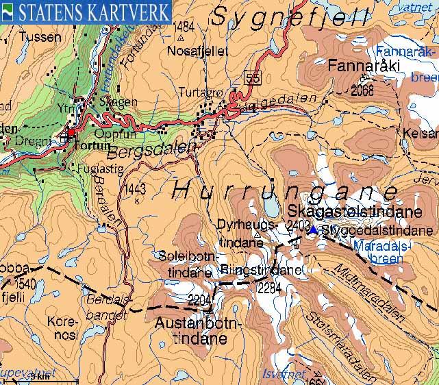 store skagastølstind kart Norwegian Mountains   Route Descriptions   Store Skagastølstind  store skagastølstind kart
